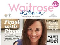Pippa Middleton on the front cover of Waitrose Kitchen magazine