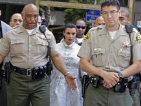 Kim Kardashian leaves court on Friday