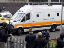 Mark Bridger arrives at Mold Crown Court