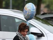 Kai Rooney arrives at Liverpool Women's Hospital to visit his mother Coleen and baby brother Klay