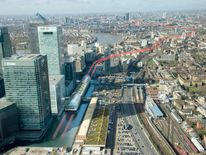 An artist's impression of the route of the new Crossrail project