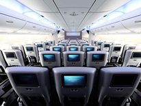 Interior of the new British Airways Airbus A380.