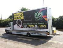 Immigration 'go home' van