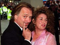 Rik Mayall and wife Barbaa