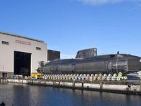 HMS Ambush roll out from construction at BAE systems