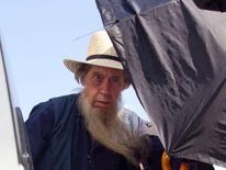 Amish man leaving court after hair trial
