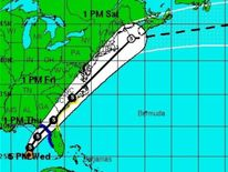 Tropical Storm Andrea track (Pic: National Hurricane Center)