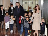 Angelina Jolie, Brad Pitt and their six children