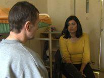Anushka Asthana talks to a prisoner inside Wormwood Scrubs