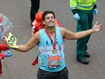 James Argent completes the London Marathon in 2012