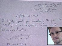 Edward Snowden's letter requesting temporary asylum in Russia