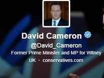 David Cameron changed his Twitter profile within minutes of stepping down