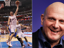 LA Clippers players and Steve Ballmer
