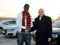 Mario Balotelli and Adriano Galliani