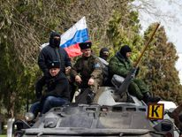 Pro-Russian supporters n Sevastopol