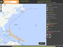 Met Office StormTracker forecast for Hurricane Bertha