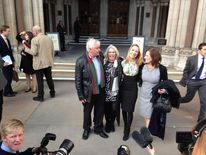 Beth Warren with mother Georgina and parents-in-law Helen and Kevin Brewer