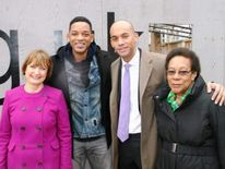 (Pic: Tessa Jowell/Twitter). Tessa Jowell, Will Smith and Chuka Umunna in Brixton