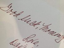 Victoria Beckham good luck note