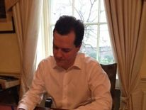 George Osborne with his red box