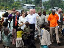 William Hague and Angelina Jolie in the Congo