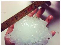 Massive hailstone