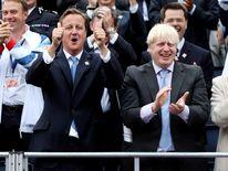 Boris Johnson and David Cameron at the Olympics