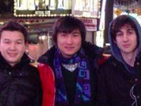 Azamat Tazhayakov (L) Dias Kadyrbayev (C) and Dzhokhar Tsarnaev