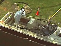 Dzhokhar Tsarnaev was found in this boat.