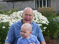 George H W Bush Shaves Head