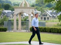 David Cameron at the G8 summit