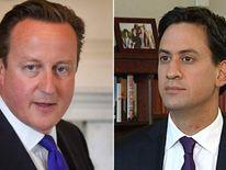 David Cameron (L) and Ed Miliband (R)