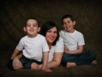 (L-R) Noah Barthe, mother Mandy Trecartin, Connor Barthe