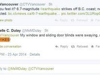 Vancouver Island earthquake