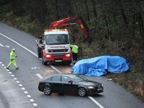 M6 motorway accident on Christmas Day