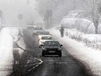 Heavy snowfall in Guisborough, north east England.