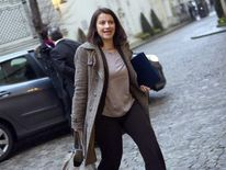French government minister Cecile Duflot wears trousers