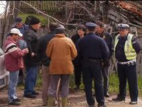 Scene of mass shooting in the village of Velika Ivanca, Serbia