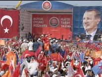 Erdogan rally in Istanbul