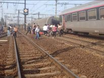 Train crash outside Paris