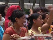 Protest outside Hong Kong over abuse of domestic servants