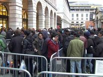 Queue for new iPhone 5 outside Apple store in Covent Garden
