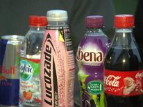 Selection Of Sugary And Fizzy Drinks