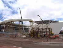 Site of World Cup opening game in Sao Paolo, Brazil