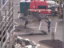 Latvia supermarket debris
