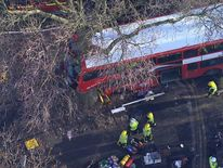 Bus crash in Kennington