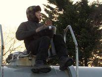Anti fracking protester Theo Simon