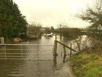 Flooding in Muchelney in Somerset