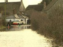 Flooding in Muchelney in Somerset