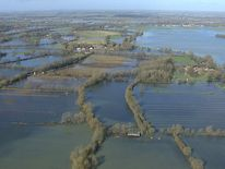 Flooded fields in Oxfordshire